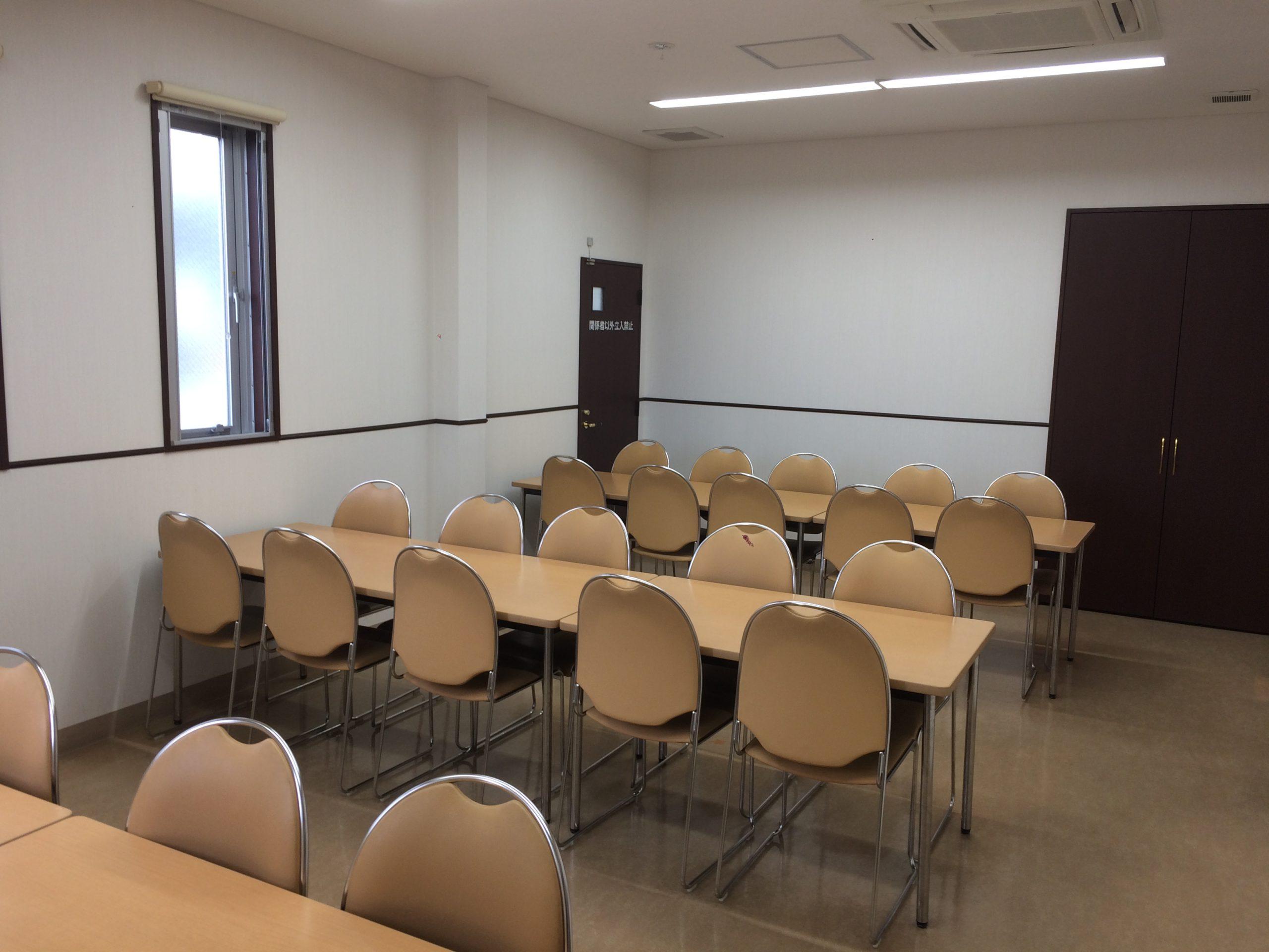 三郷市斎場の新館の待合室
