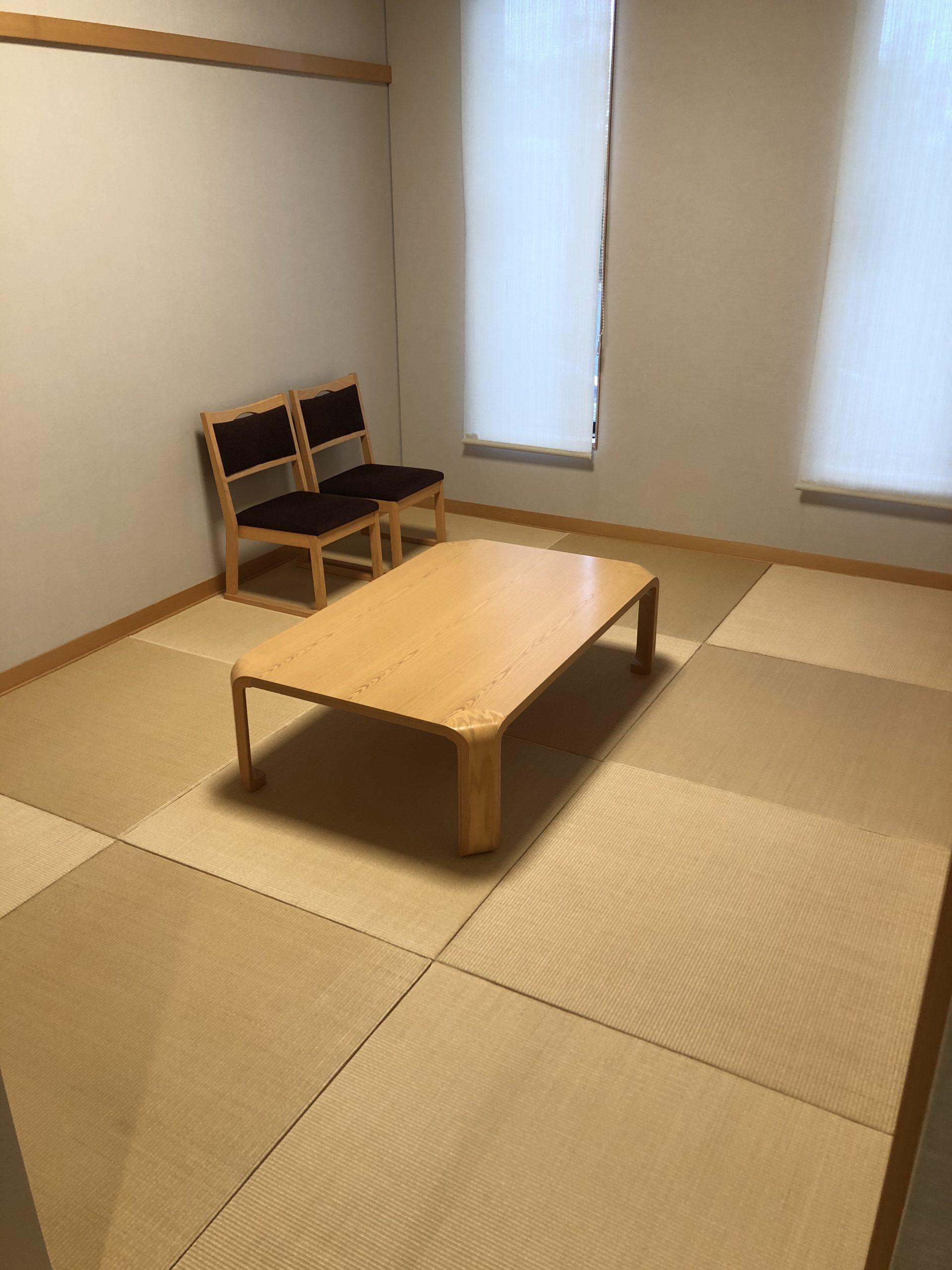 川越市斎場の遺族控室
